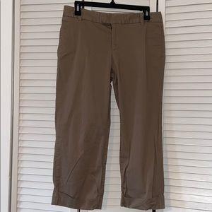 GAP Khaki Cropped Cuffed Straight Pants 6